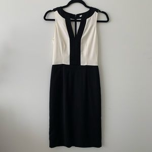 Banana Republic Ivory & Black Dress 00/Xs